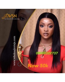 50k WSN Ideal Straight Glueless Frontal Wig