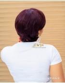 Burgundy Fringe Glueless Frontal Wig