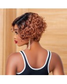 Pixie Cut Ombre T-Frontal Wig
