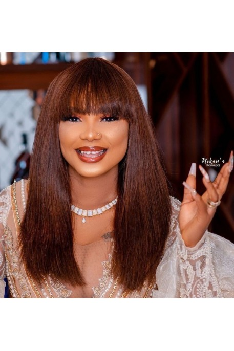 Super Double Drawn Raw Donor  Fringe Wig