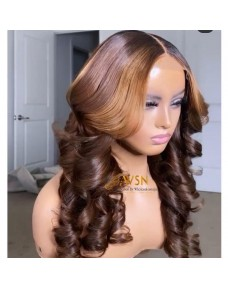 Super Double Drawn Raw Donor Customized Closure Wig