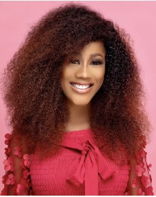 Kinky Curly Colored Closure Wig