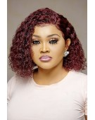 Super Double Drawn Burgundy Glueless Frontal Jerry Wig