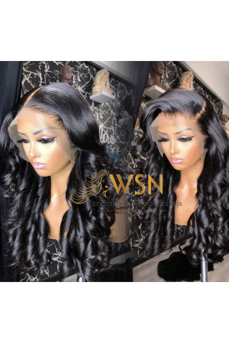 Super Double Drawn Duchess Curly Glue-less Frontal Wig