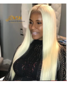 11A Grade Platinum 613 Blonde Straight Plus Frontal (Human Hair) 200Grams